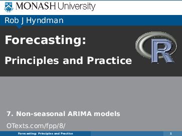 PDF) 7  Non-seasonal ARIMA models Forecasting: Principles