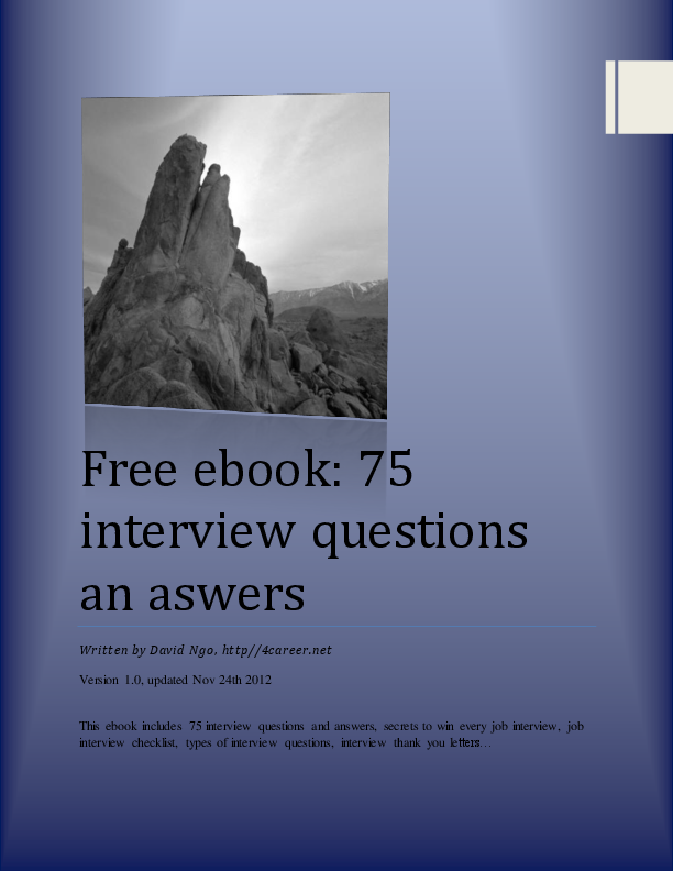 .net Interview Questions And Answers Ebook