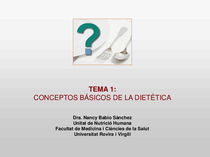 principios básicos de nutrición y grupos de alimentos.