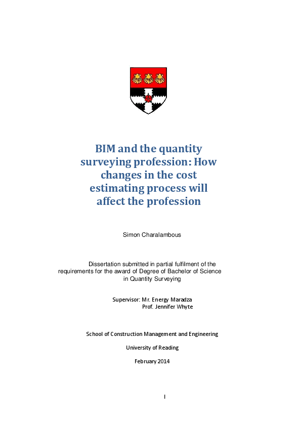 PDF) BIM and the quantity surveying profession: How changes in the