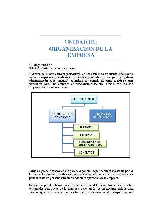 Doc Unidad Iii Organización De La Empresa Andrea Rivas