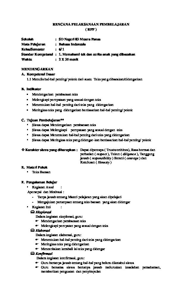 Rpp Sejarah Tentang Sumpah Pemuda Doc Rencana Pelaksanaan Pembelajaran Rpp Sekolah Sd Negeri 03 Muara Panas Doni Isnaini Academia Edu