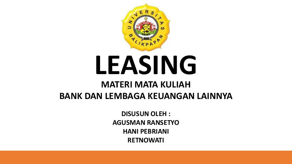materi tentang leasing