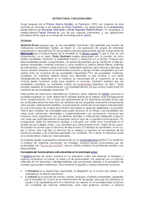 Doc Estructural Funcionalismo Maria Llanos Academia Edu