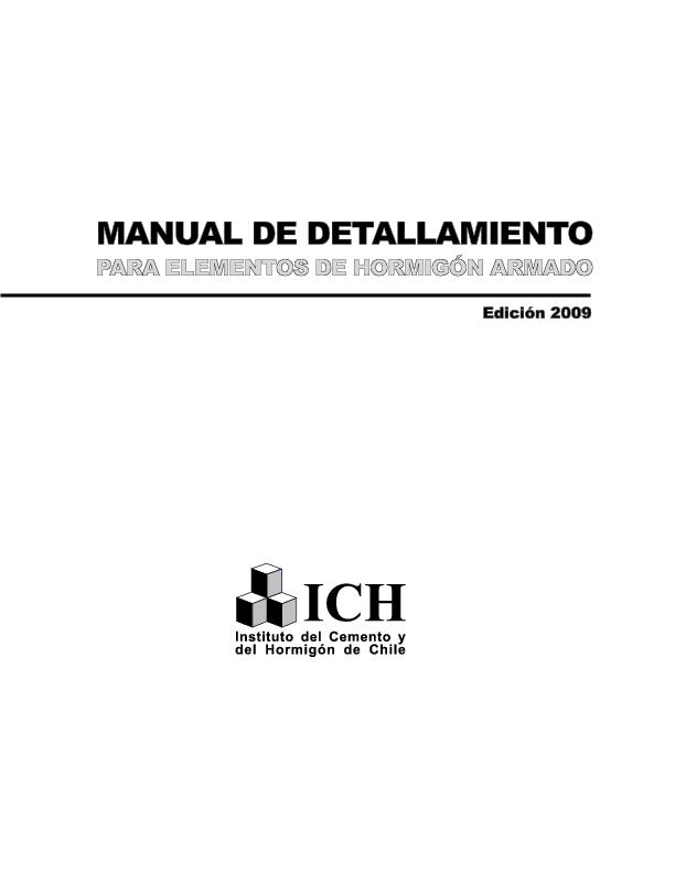 (PDF) Manual de Detallamiento para Elementos de Hormigón