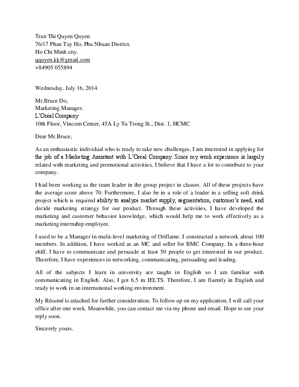 Cover Letter For Marketing Internship from 0.academia-photos.com