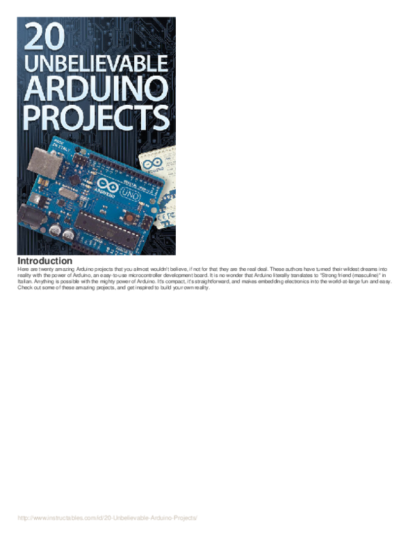 PDF) 20-Unbelievable-Arduino-Projects | Trung Nguyen Hoang