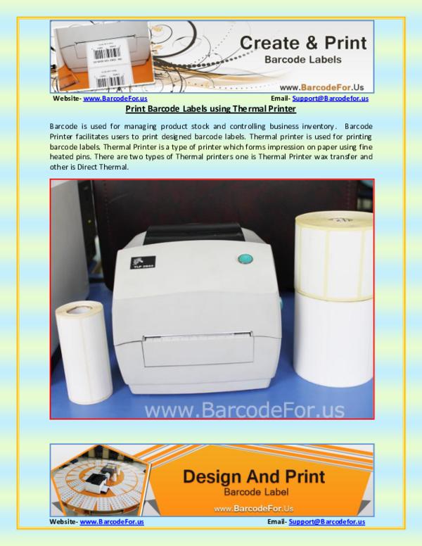 PDF) Barcode Printing Process through Thermal Printer