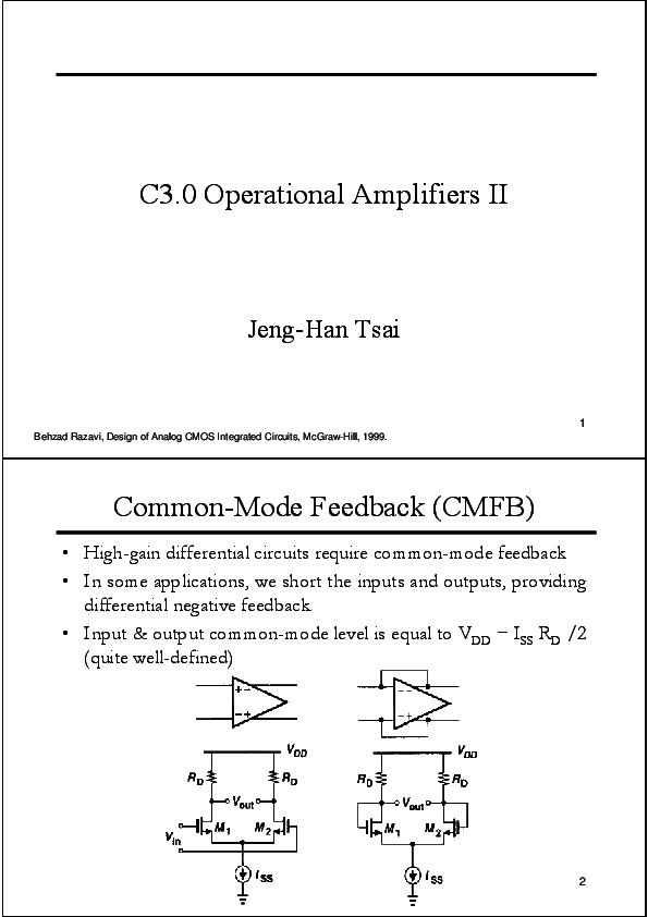 PDF) C3 0 Operational Amplifiers II Common-Mode Feedback
