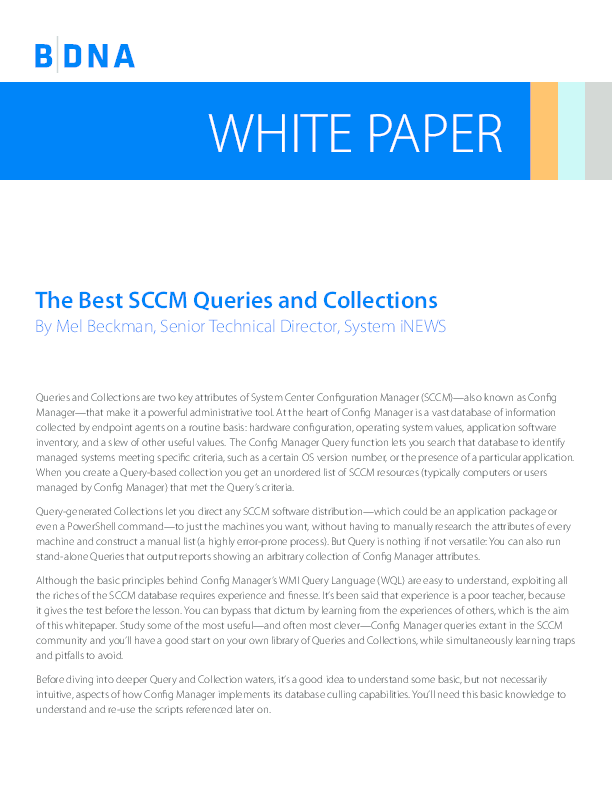 PDF) 1WP BDNA-WITP Best-SCCM-Queries-Collections-2012 | Dhivakar