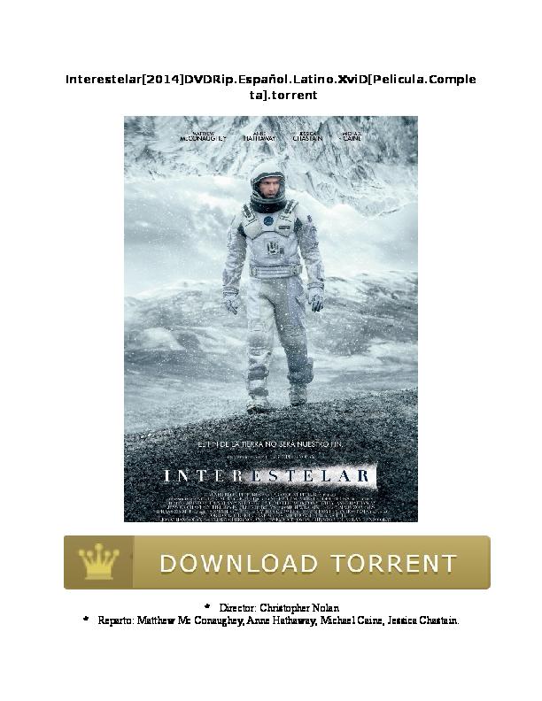 interstellar torrent espanol hd