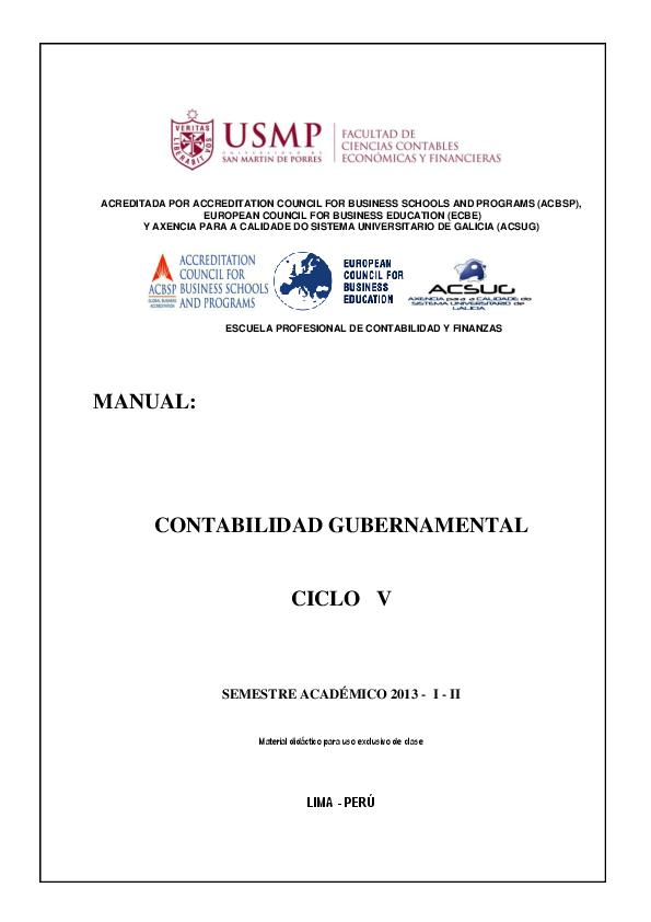 Compra De Utiles De Oficina Asiento Contable.Doc Manual De Contabilidad Gubernamental 2013 I Ii Gesith