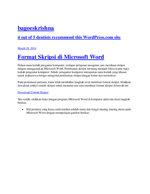 Doc Format Skripsi Di Microsoft Word Nandi Arisandi Academia Edu
