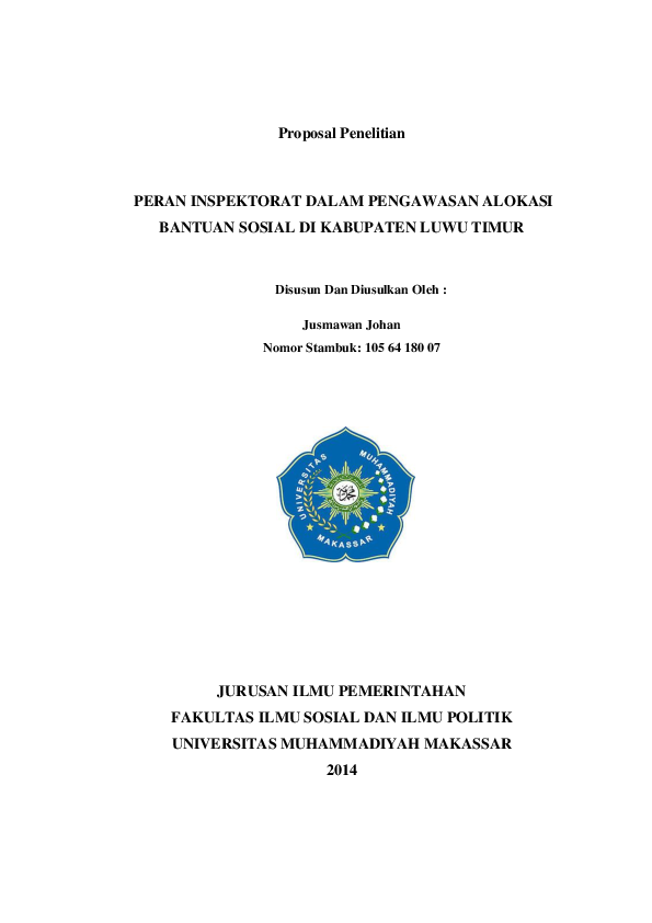 Proposal Penelitian Ilmu Pemerintahan Ilmusosial Id