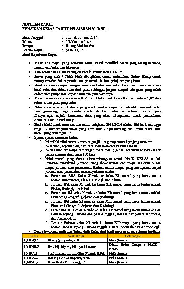Doc Notulen Rapat Kenaikan Kelas Supriyanto Praptoutomo