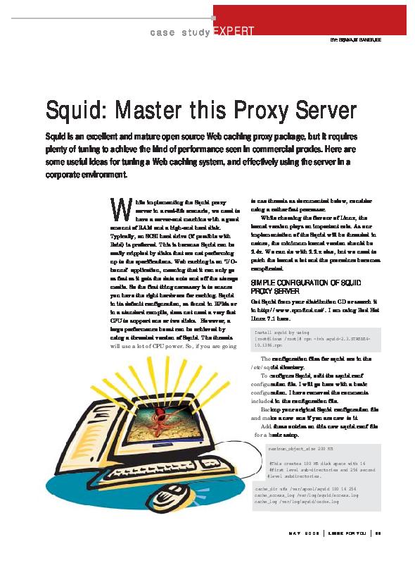 PDF) SIMPLE CONFIGURATION OF SQUID PROXY SERVER | mariana senolinggi