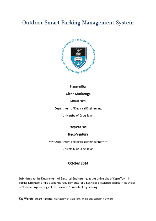 PDF) Final Year Thesis | Glenn Madzonga - Academia edu