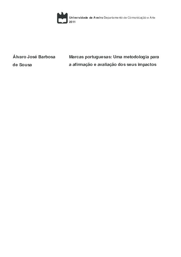 73f18c17a PDF) Marcas portuguesas: Uma metodologia para a afirmação e ...