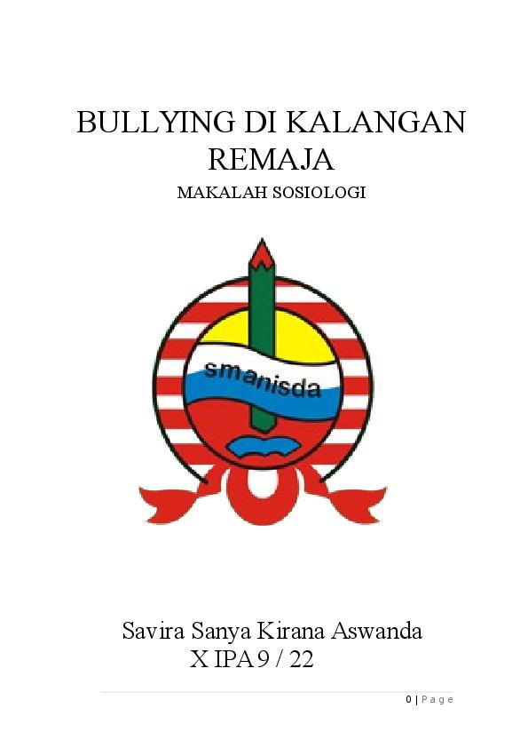 Doc Makalah Bullying Savira Sanya Academia Edu