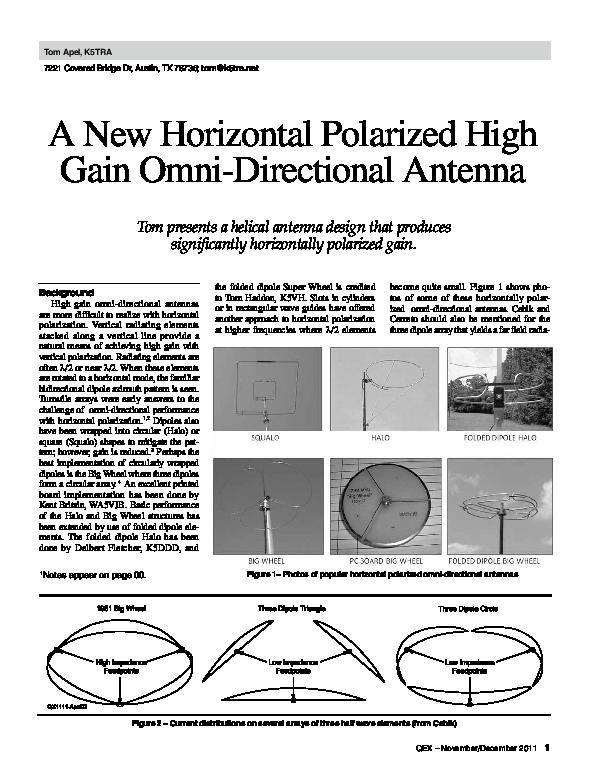 PDF) A New Horizontal Polarized HG Omni Directional Antenna