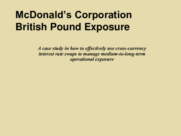 mcdonalds corporations british pound exposure case study