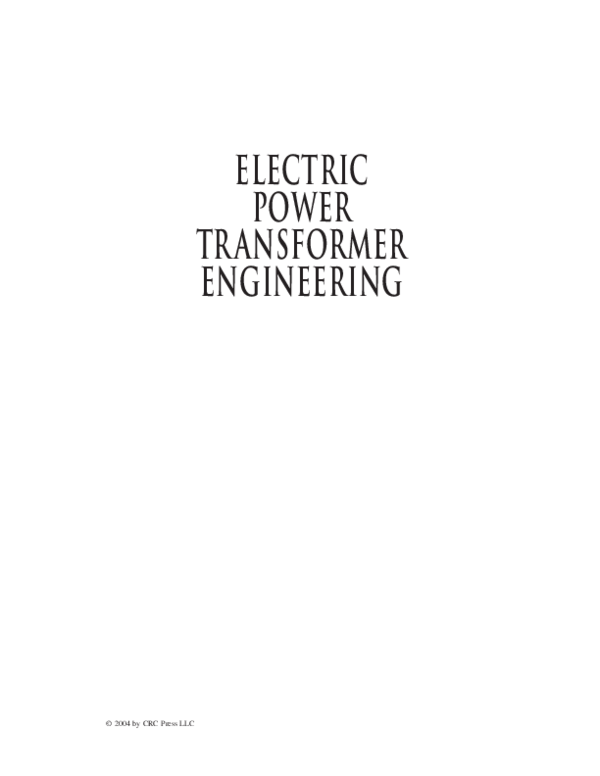d0d4131d PDF) ELECTRIC POWER TRANSFORMER ENGINEERING | Ibrahim Morad ...