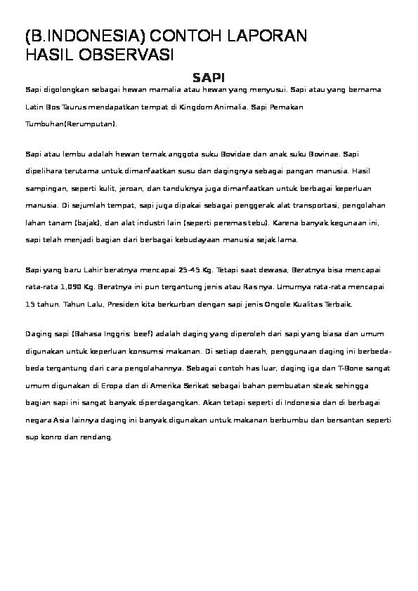 Doc Contoh Laporan Hasil Observasi Heries Choahada Academia Edu
