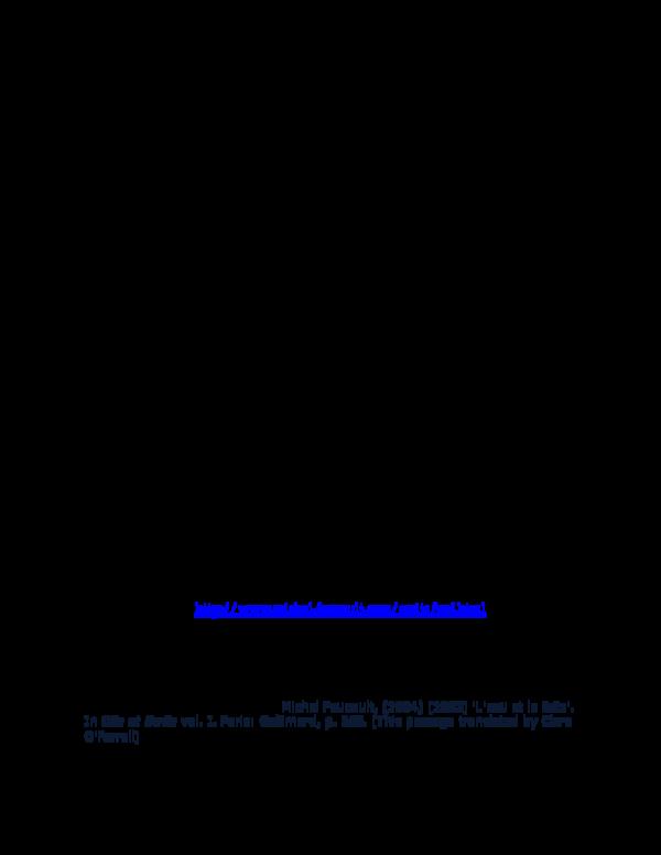 DOC) A Note on Michele Foucault | William Letzkus - Academia edu
