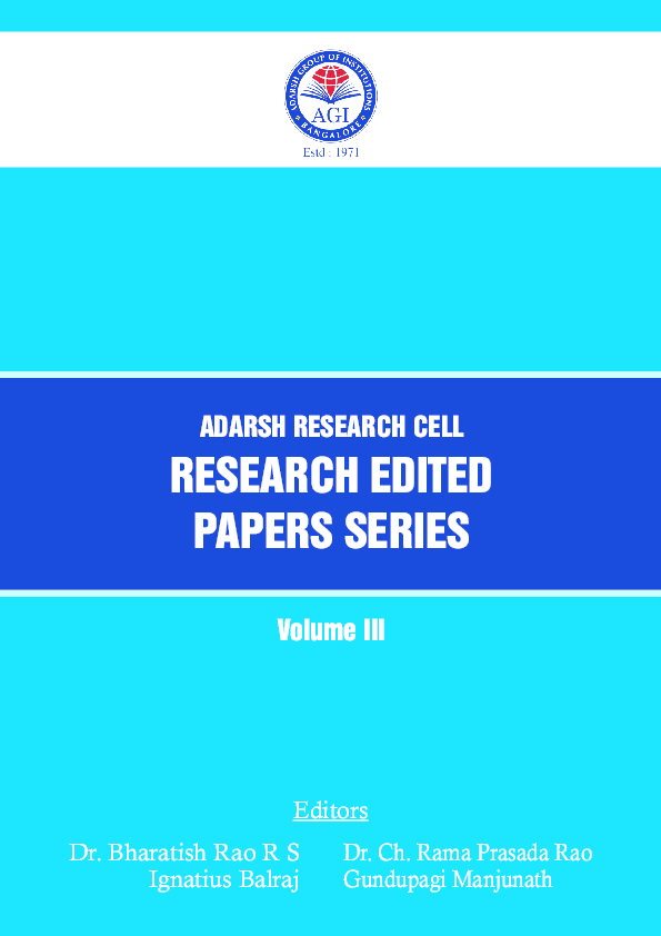 Adarsh Research Cell - Research Edited Papers Series 2014