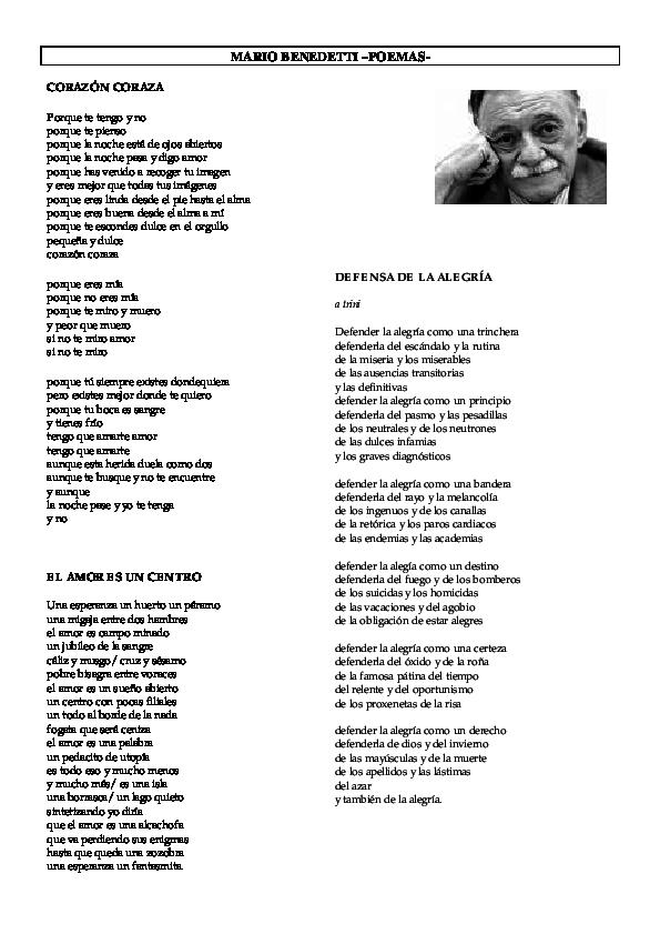 Pdf Mario Benedetti Poemas Lenin Putzhug Academia Edu