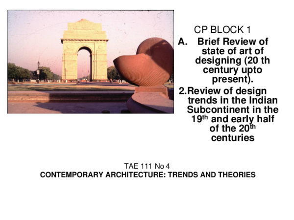 PPT) Contemporary Architecture 4 | Kiran Kalamdani