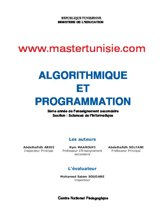 ET PROGRAMMATION PASCAL ALGORITHMIQUE TPW 1.5 TÉLÉCHARGER