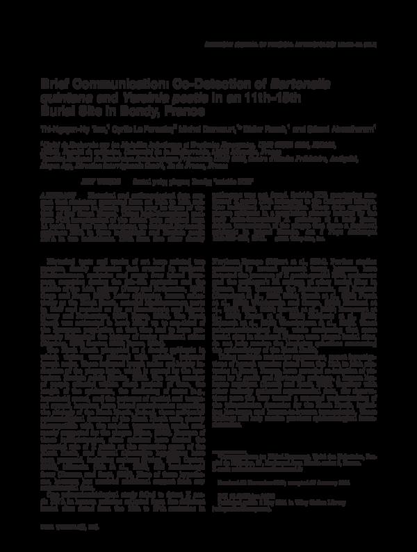 PDF) Brief Communication: Co-Detection of Bartonella
