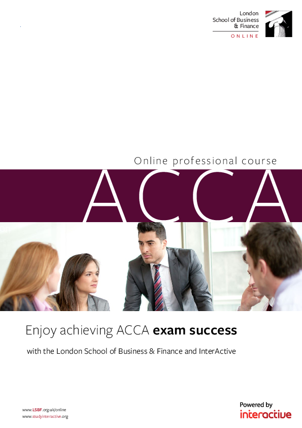 PDF) Online profes sional course ACCA London School of