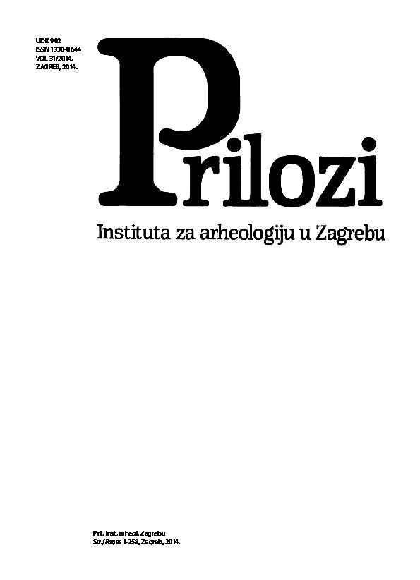 cfa20db7f Prilozi Instituta za arheologiju u Zagrebu, Vol. 31 / Cotnributions ...
