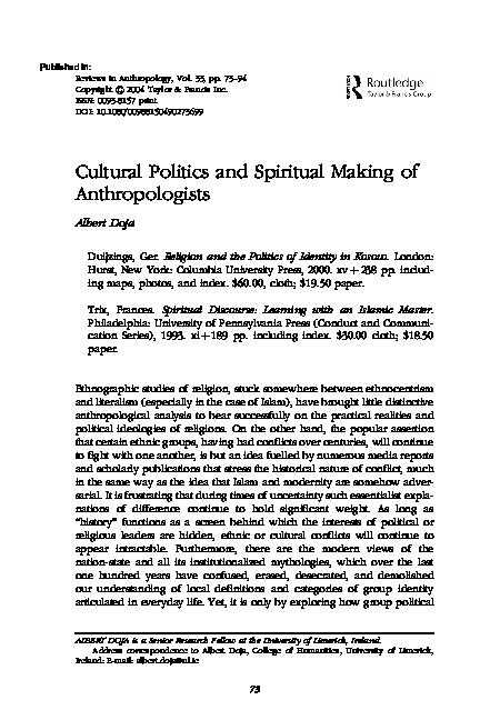 PDF) Religion and the politics of identity in Kosovo