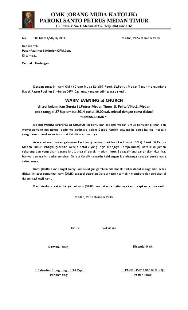 Doc No Omk Orang Muda Katolik Paroki Santo Petrus Medan