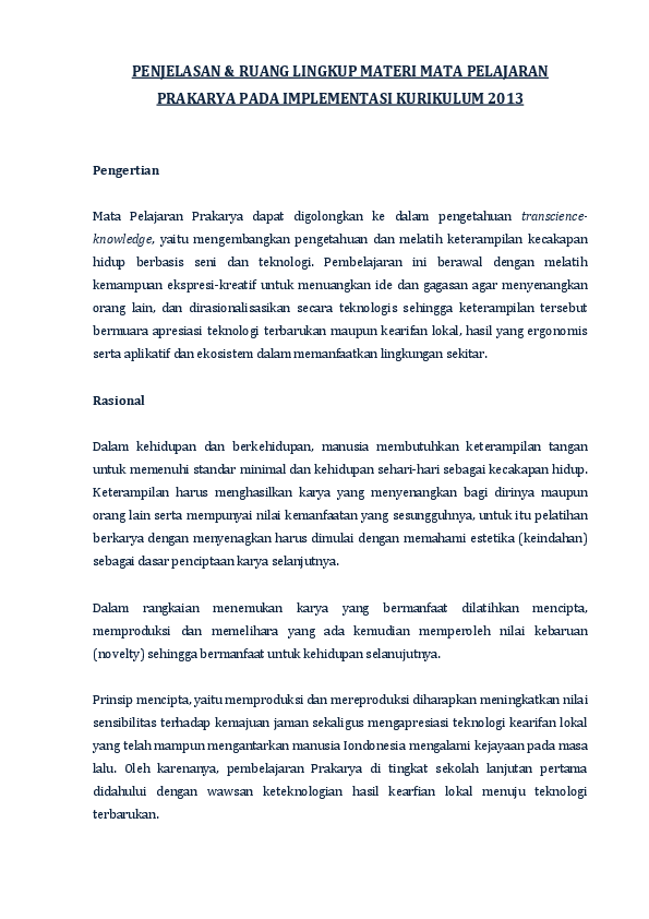 (DOC) PENJELASAN & RUANG LINGKUP MATERI MATA PELAJARAN ...