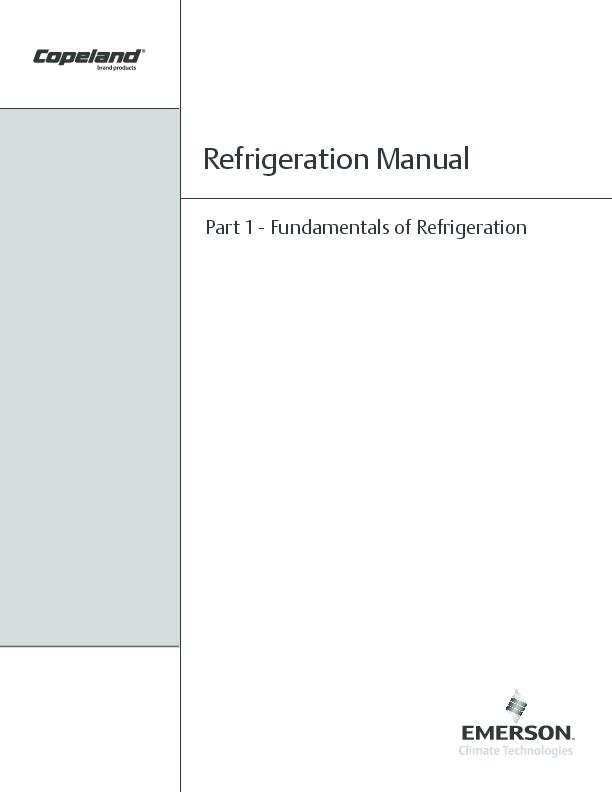 PDF) Part 1 -Fundamentals of Refrigeration Refrigeration