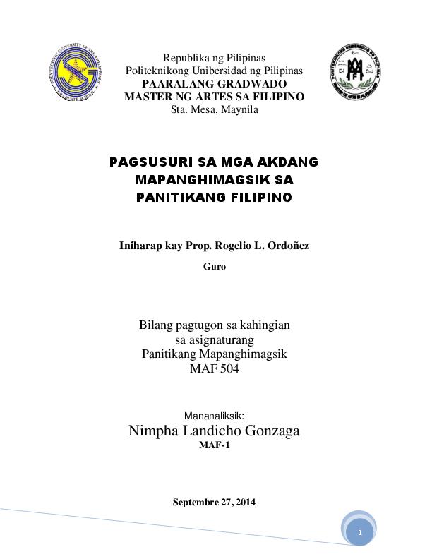 Basahan pagsusuri republikang Ang Propesora: