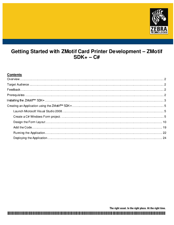 PDF) Getting Started with ZMotif Card Printer Development – ZMotif