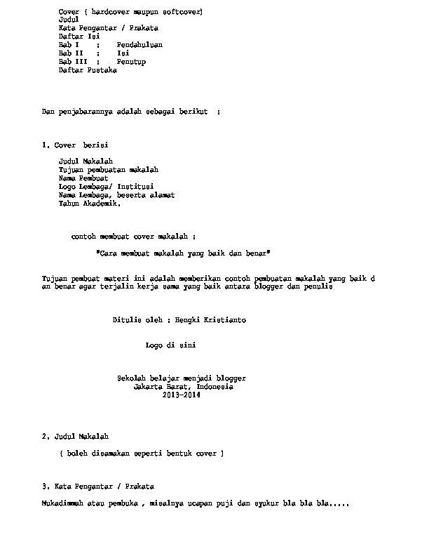 Cover Hardcover Maupun Softcover Judul Kata Pengantar Prakata Daftar Isi Bab I Pendahuluan Bab Ii Isi Bab Iii Penutup Daftar Pustaka Ari Krisna Academia Edu