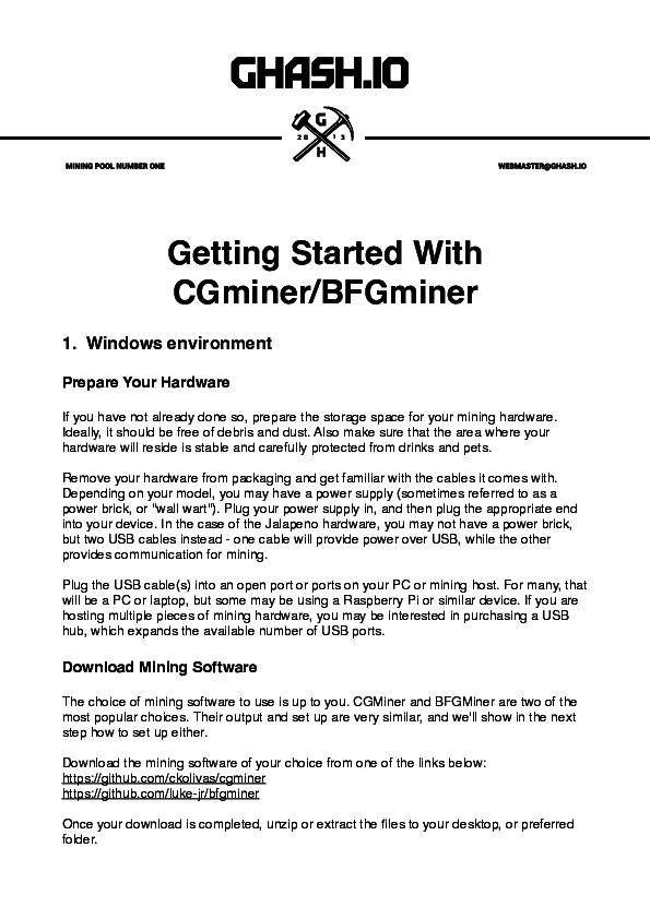 Getting Started With! CGminer/BFGminer | iwan affandi