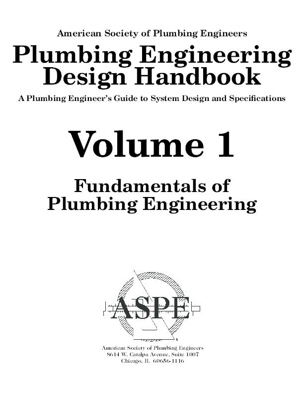 PDF) American Society of Plumbing Engineers Plumbing