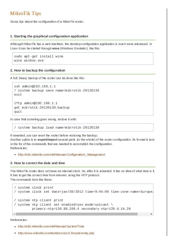 PDF) MikroTik Tips | Dashamir Hoxha - Academia edu