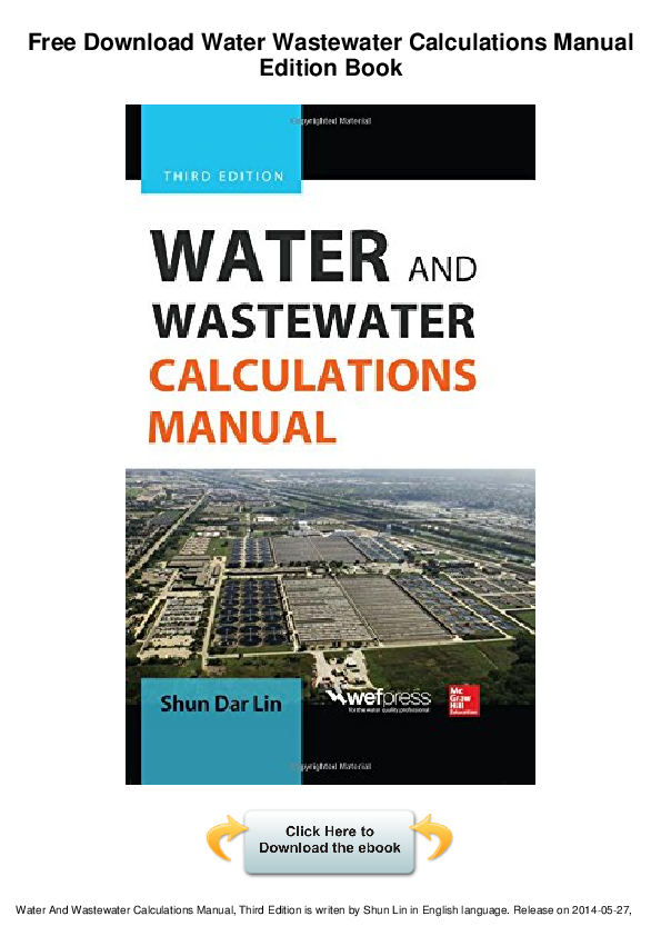 Free Download Water Wastewater Calculations Manual Engneer Ahmed