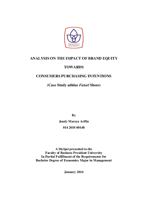 Mejorar astronomía Enfermedad  PDF) ANALYSIS ON THE IMPACT OF BRAND EQUITY TOWARDS CONSUMERS ...