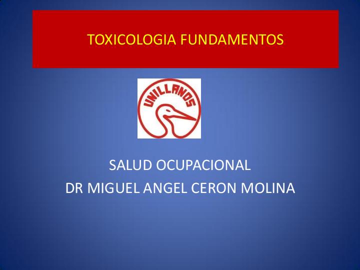 PPT) TOXICOLOGIA FUNDAMENTOS | Zaida Luz - Academia edu