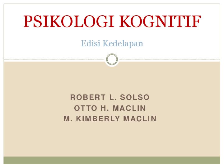 Pdf buku psikologi kognitif