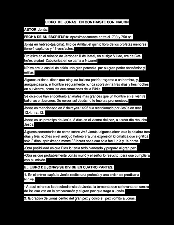 Doc Libro De Jonas En Contraste Con Nauhn Flor Sotelo Academia Edu